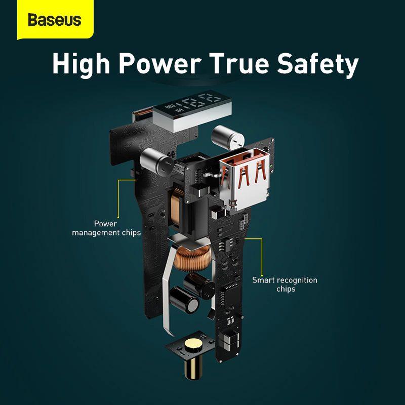 Baseus Pd 100w Usb Car Charger Quick Charge 4 0 Qc4 0 Qc3 0 Type C Usb (4)