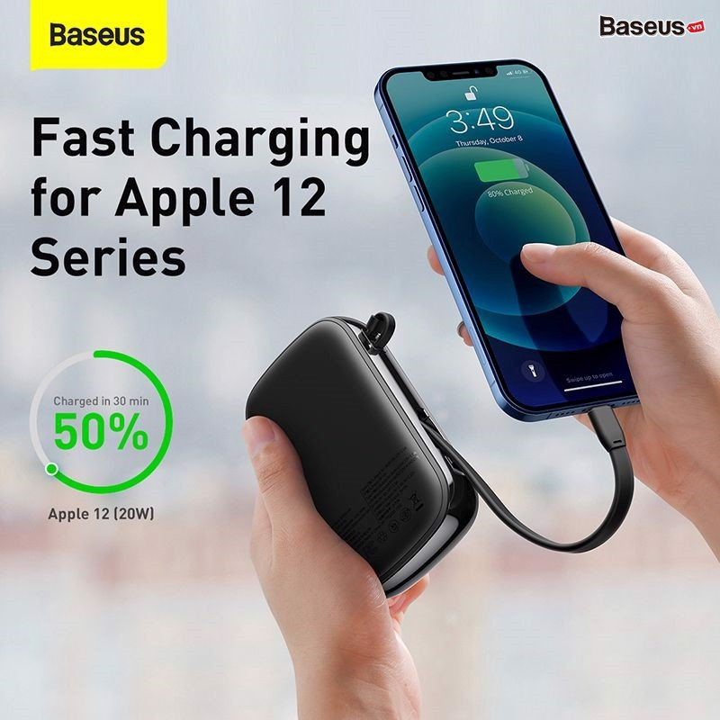 Baseus Qpow Digital Display Quick Charging Power Bank 20000mah 20w With Ip Cable (2)