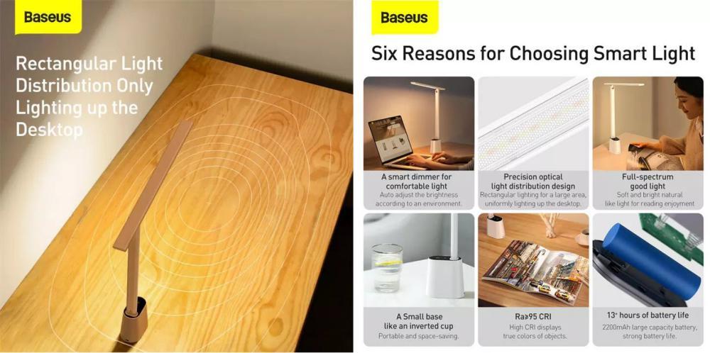 Baseus Smart Eye Series Rechargeable Folding Reading Desk Lamp (1)