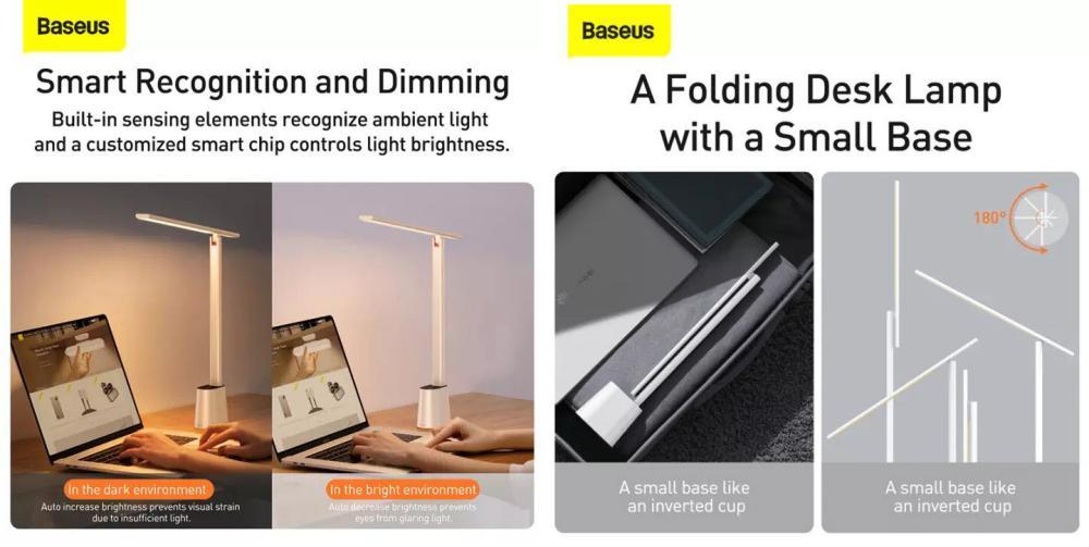 Baseus Smart Eye Series Rechargeable Folding Reading Desk Lamp (2)