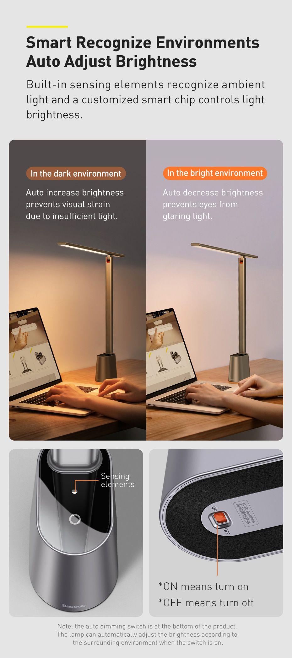 Baseus Smart Eye Series Rechargeable Folding Reading Desk Lamp Smart Light (3)