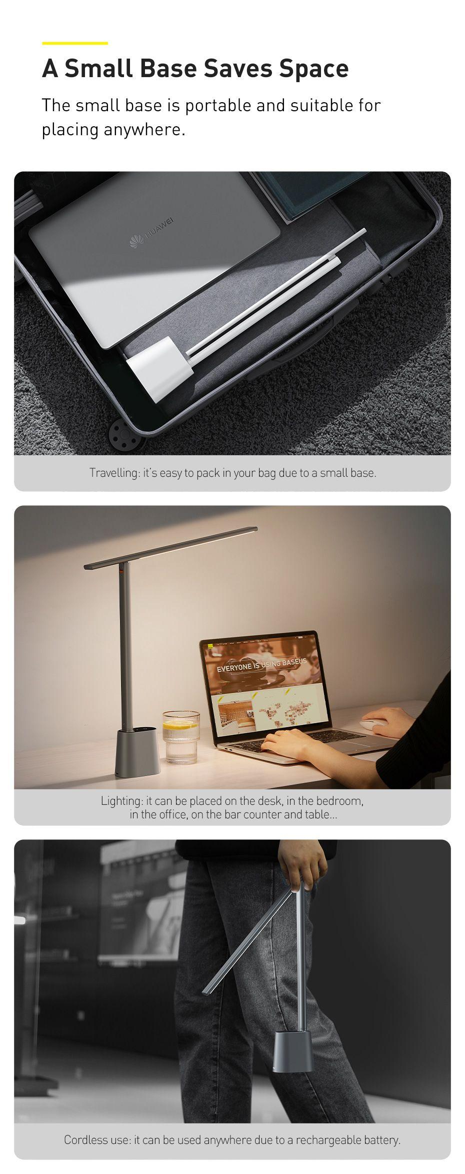 Baseus Smart Eye Series Rechargeable Folding Reading Desk Lamp Smart Light (4)