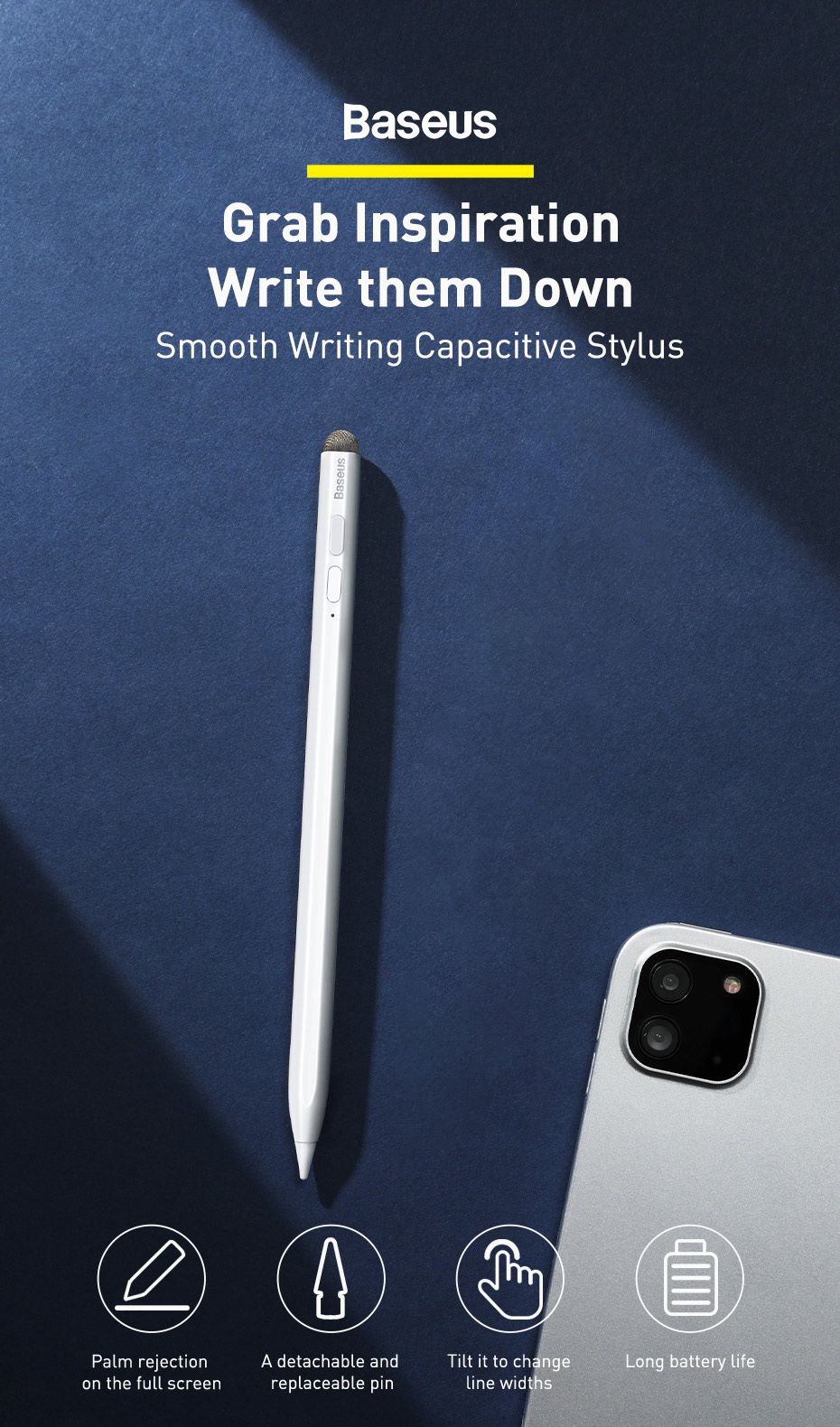 Baseus Smooth Writing Stylus Pen Active Passive Version With Type C Charging Capacitive (1)