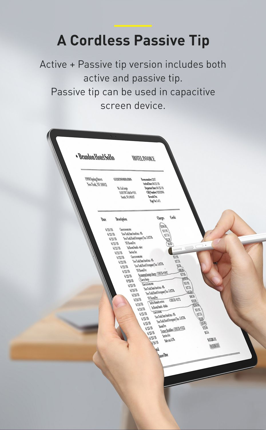 Baseus Smooth Writing Stylus Pen Active Passive Version With Type C Charging Capacitive (5)