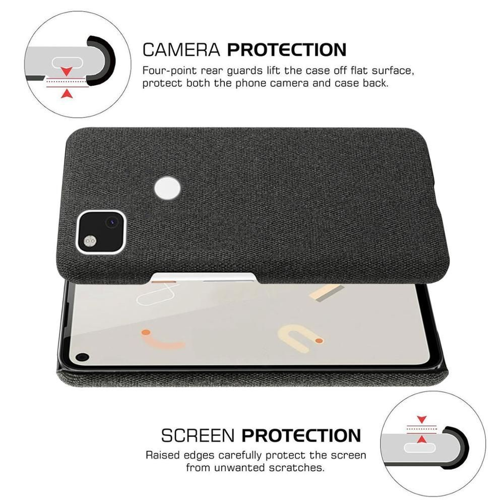 Coque Fabric Antiskid Cloth Texture Case For Google Pixel 4a 5g (2)