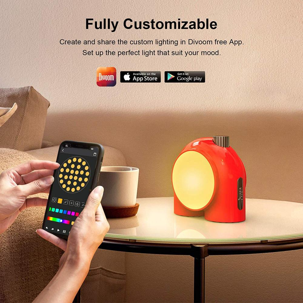 Divoom Planet 9 Table Lamps Dimmable Mood Lighting Light With App Controlled (9)