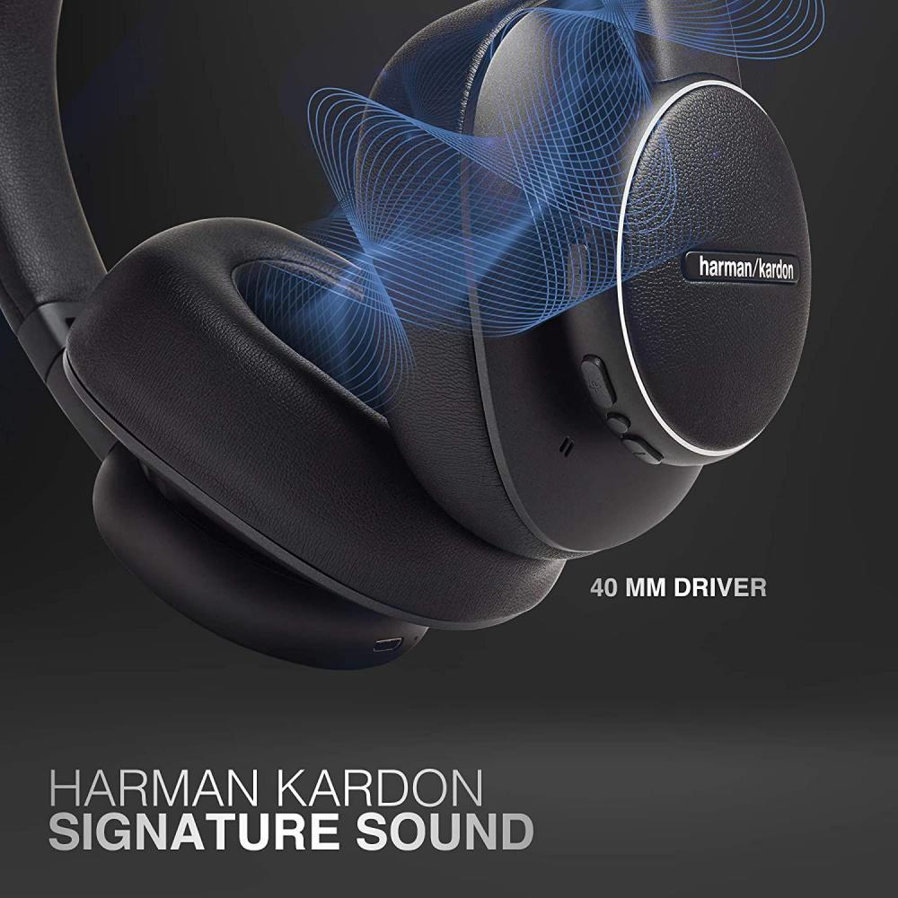 Harman Kardon Fly Wireless Over Ear Active Noise Cancelling Headphones (2)