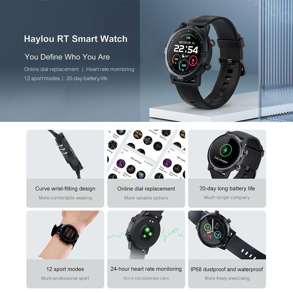 Haylou Rt Ls05s Smartwatch Ip68 Waterproof (1)