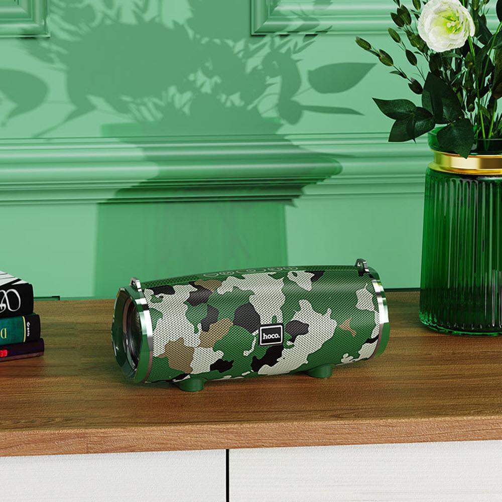 Hoco Bs40 Desire Waterproof Bt V5 0 Wireless Bluetooth Speaker Camouflage Green (2)