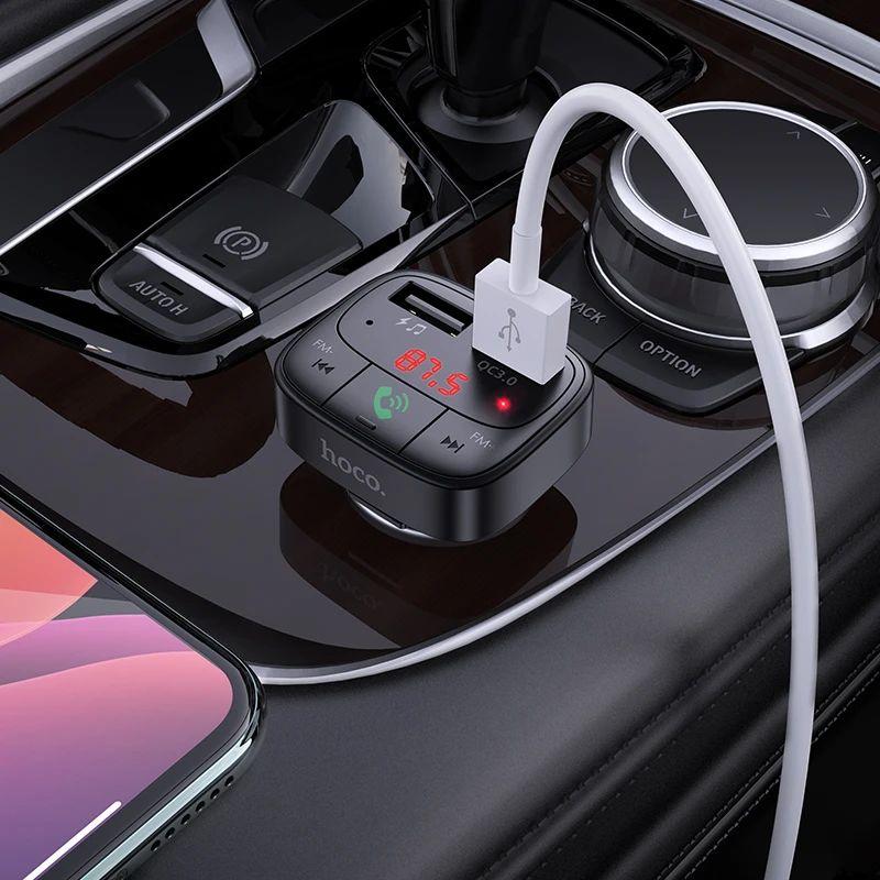 Hoco E59 Dual Usb Car Charger Bluetooth Fm Transmitter (1)