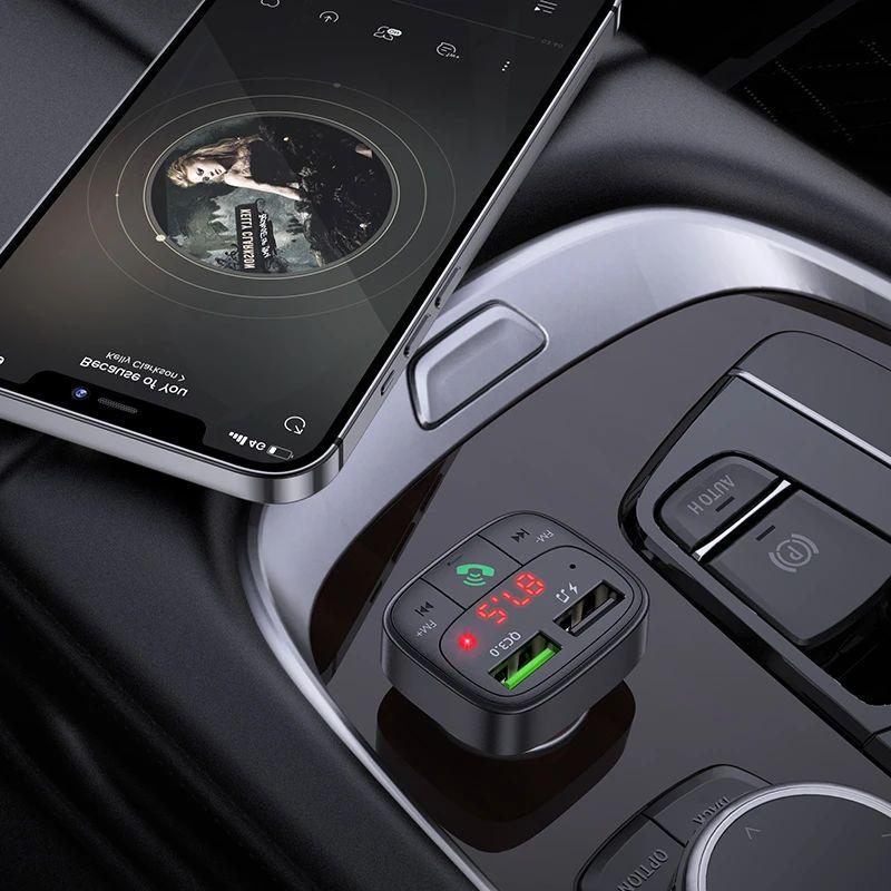Hoco E59 Dual Usb Car Charger Bluetooth Fm Transmitter (2)