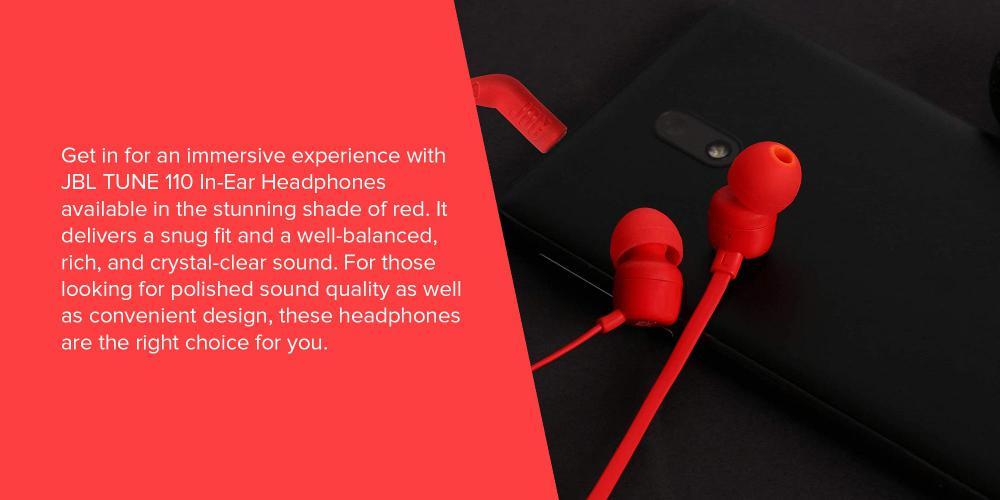 Jbl Tune 110 In Ear Headphones Red (2)