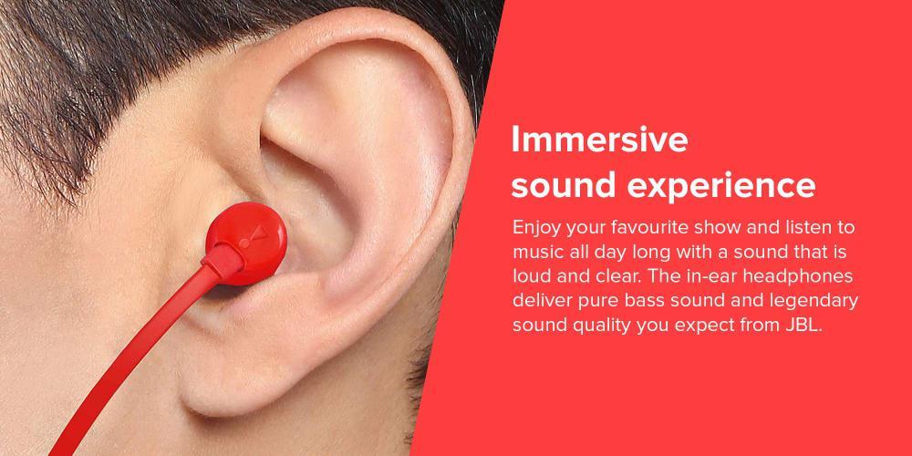 Jbl Tune 110 In Ear Headphones Red (3)