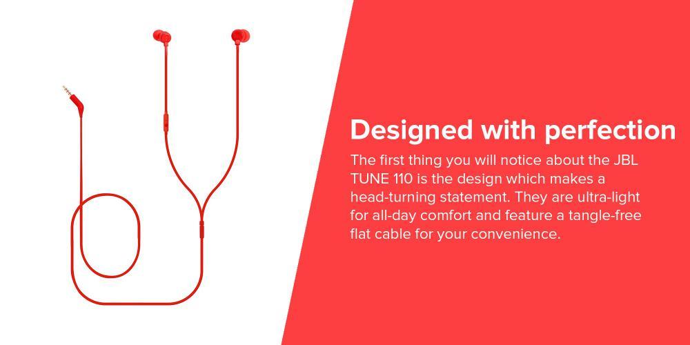 Jbl Tune 110 In Ear Headphones Red (5)