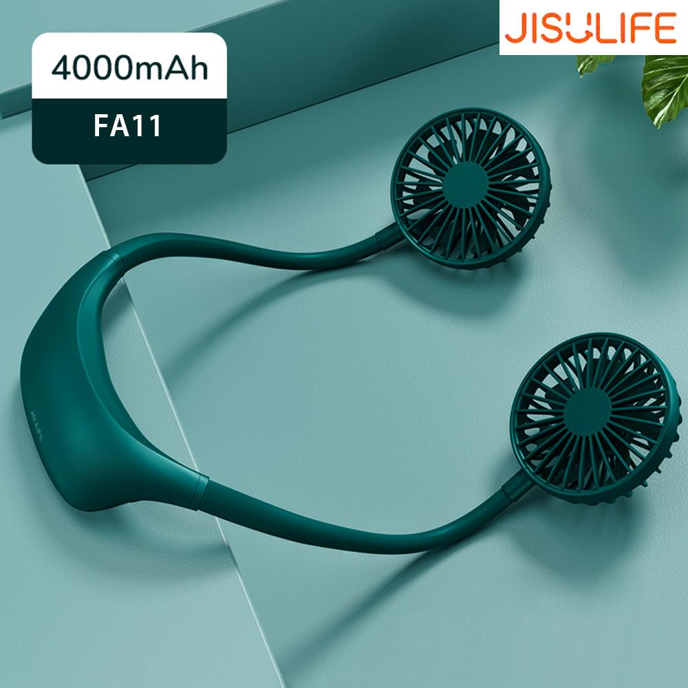 Jisulife Fa11x Mini Wireless Rechargeable Usb Neck Fan (1)