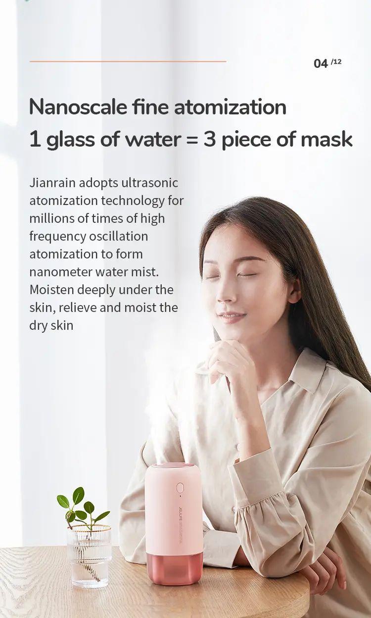 Jisulife Jb08 Dual Nozzle Dual Spray Usb Humidifier Portable 500ml (2)
