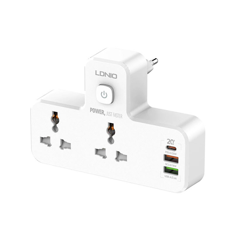 Ldnio Sc2311 20w 3 Port Usb Charger Extension Power Strip (1)