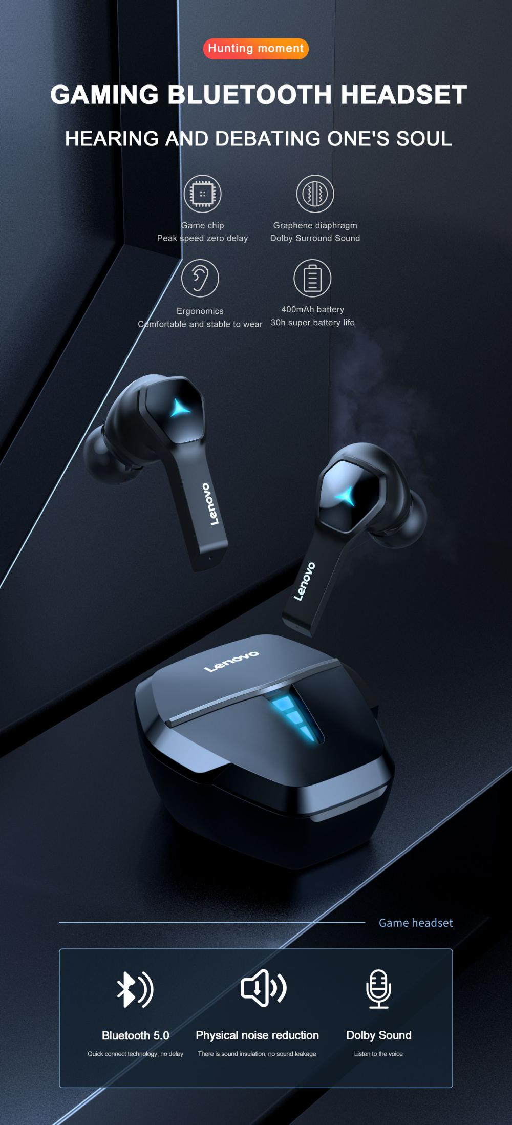 Lenovo Hq08 Gaming Wireless Bluetooth Earbuds (3)