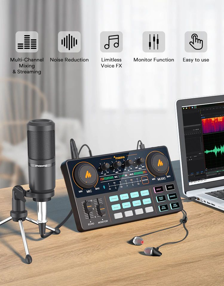 Maonocaster Lite Au Am200 Portable All In One Podcast Production Studio With Condenser Mic (1)
