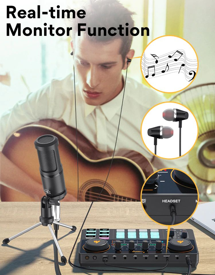 Maonocaster Lite Au Am200 Portable All In One Podcast Production Studio With Condenser Mic (2)