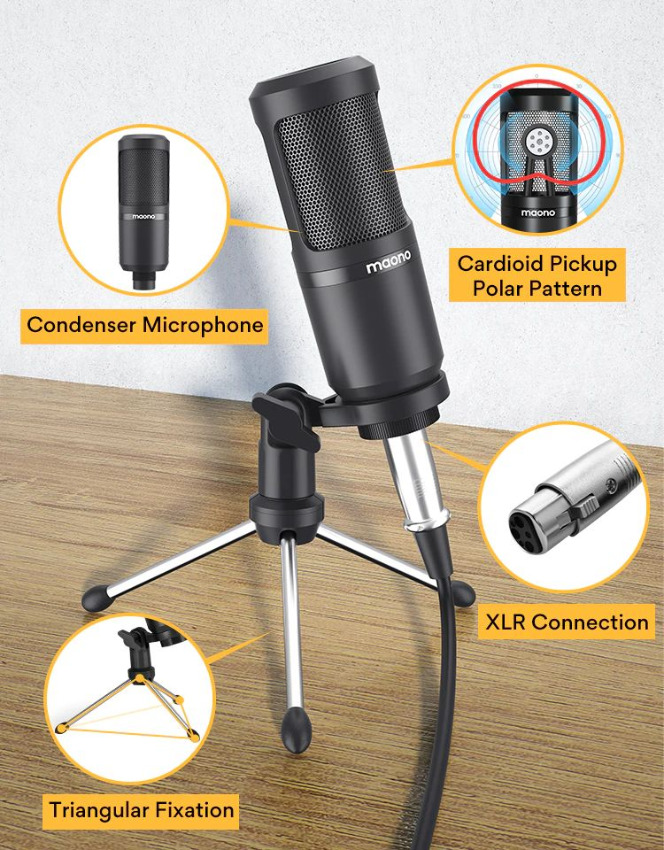 Maonocaster Lite Au Am200 Portable All In One Podcast Production Studio With Condenser Mic (3)