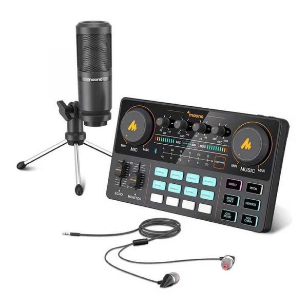 Maonocaster Lite Au Am200 Portable All In One Podcast Production Studio With Condenser Mic (9)