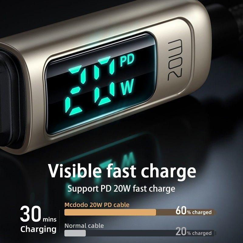 Mcdodo Ca 8810 Lightning Cable Type C Digital Display Pd 20w (1)