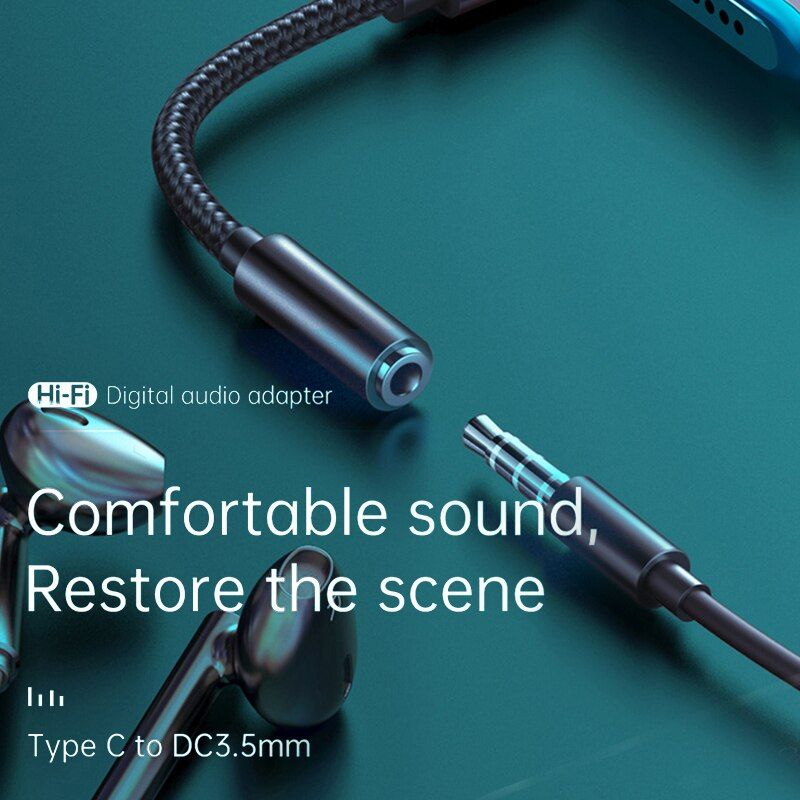 Mcdodo Hifi Dac Audio Aux Cable Usb Type C To Dc3 5mm Headphone Jack (5)