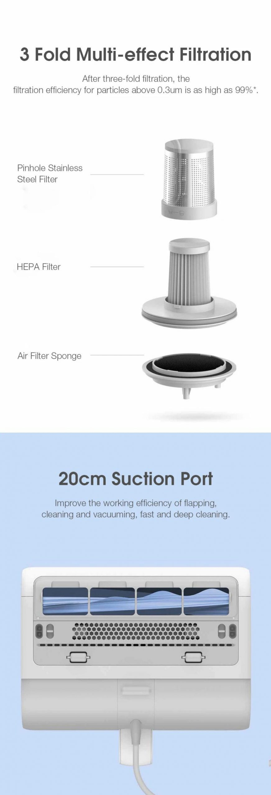 Mini Xiaomi Mijia Uv Sterilization Anti Mites Mattress Vacuum Cleaner 12000pa Strong Suction (4)