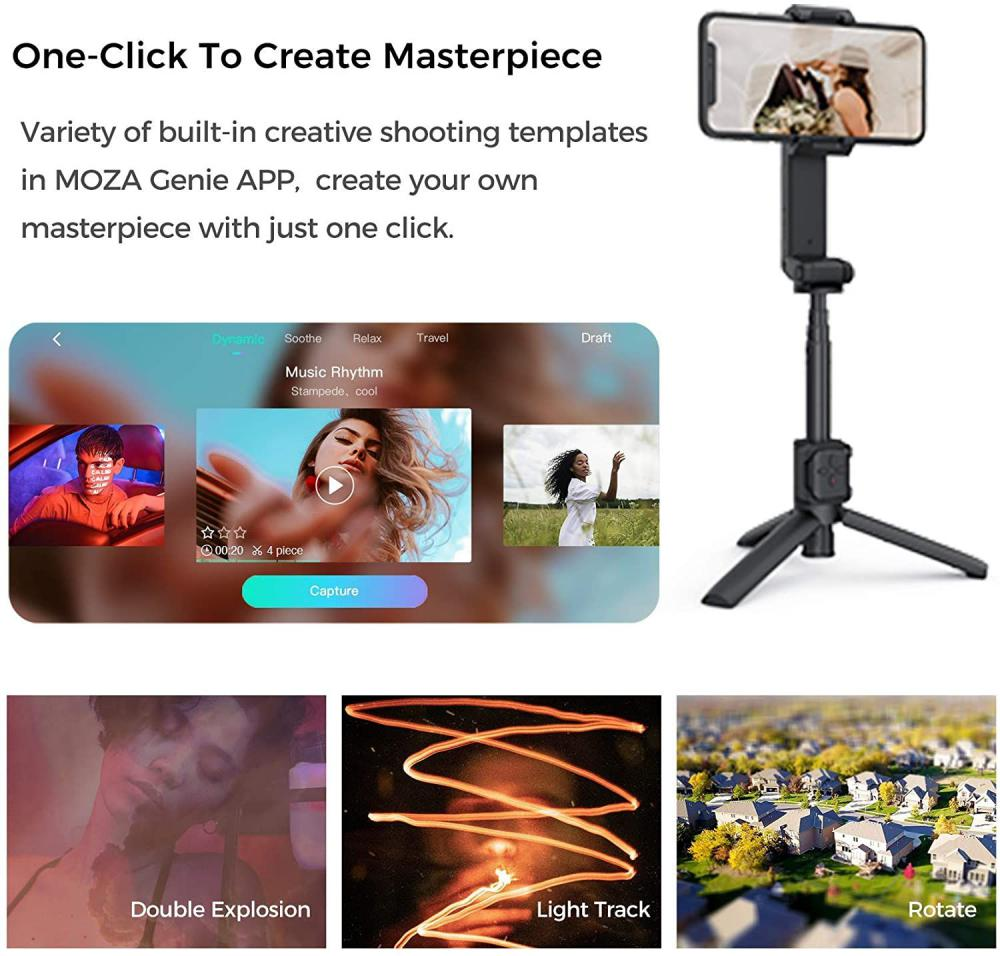Moza Nano Se Selfie Stick With Extendable Gimbal For Smartphones (2)