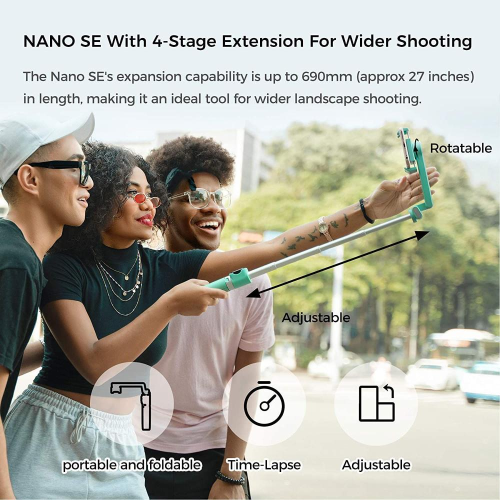 Moza Nano Se Selfie Stick With Extendable Gimbal For Smartphones (5)