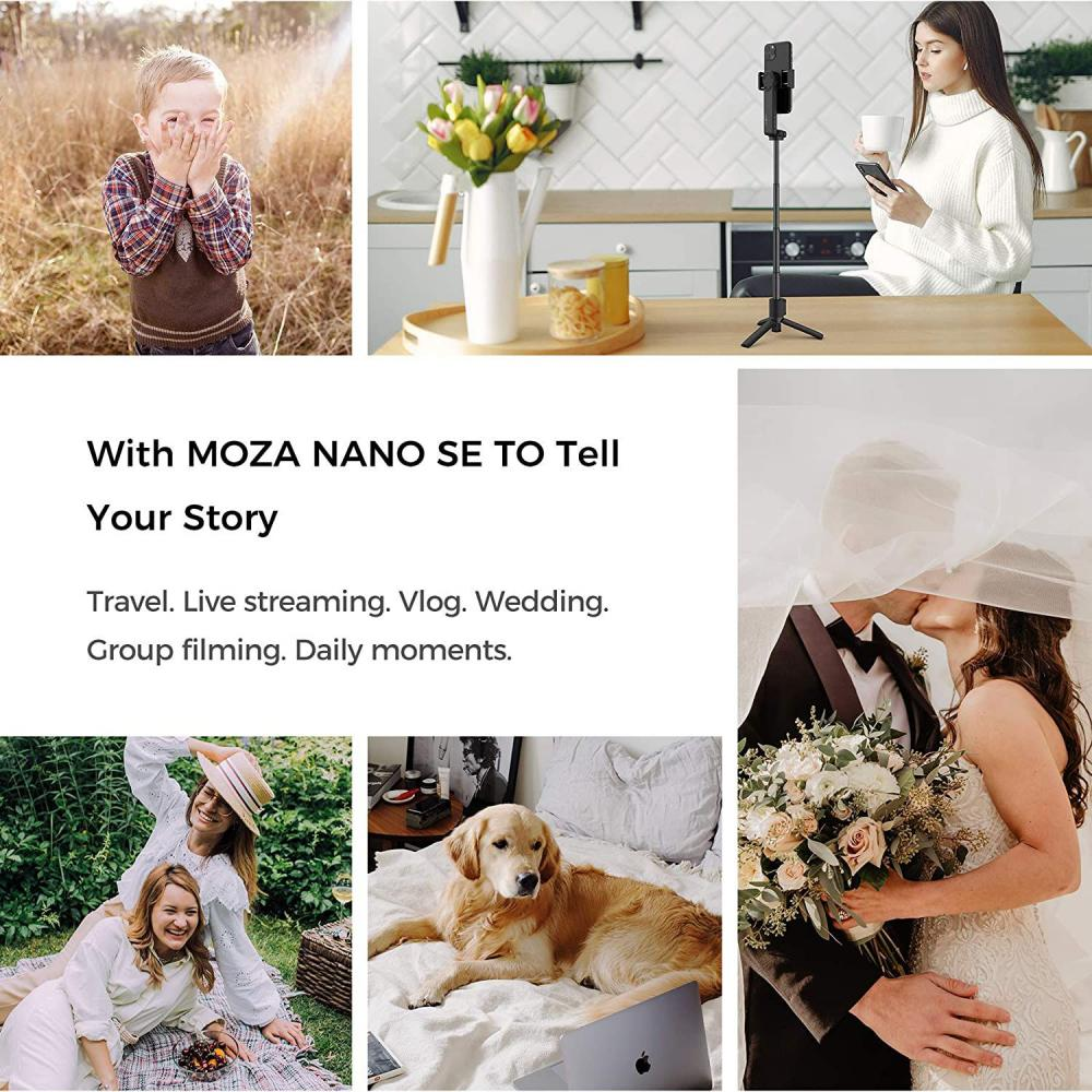 Moza Nano Se Selfie Stick With Extendable Gimbal For Smartphones (6)