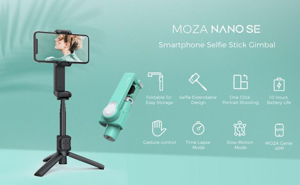 Moza Nano Se Selfie Stick With Extendable Gimbal For Smartphones (8)