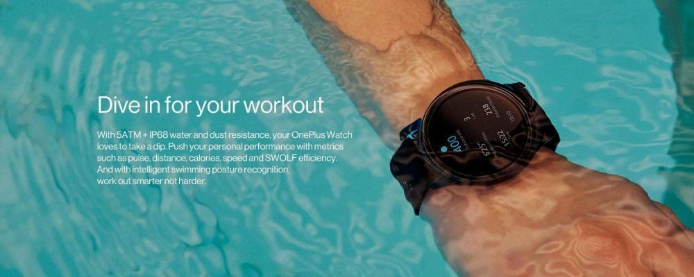 Oneplus Watch Ip68 Water Resistance Smartwatch Midnight Black (9)