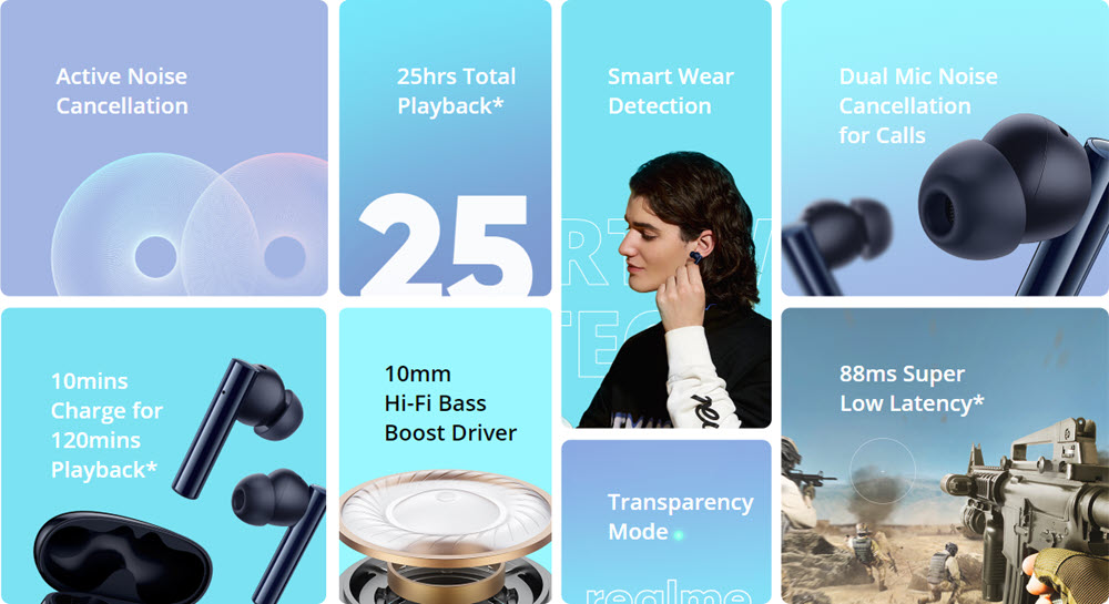 Realme Buds Air 2 With Active Noise Cancellation Anc Wireless Earbuds (1)
