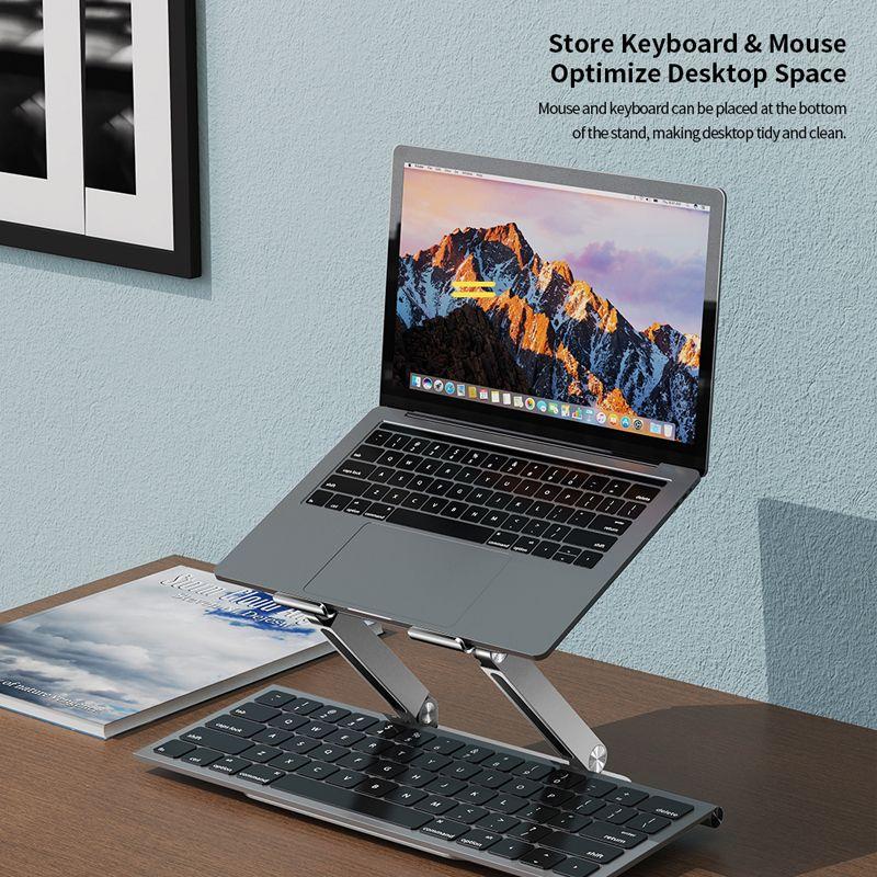 Rock Aluminum Alloy Lifetable Cooling Bracket Laptop Stand (1)