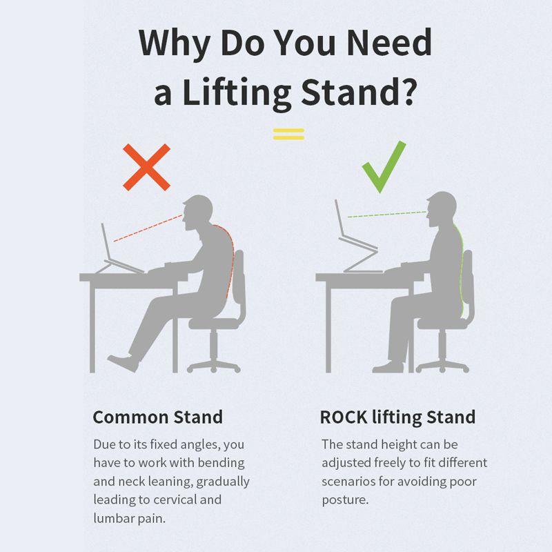 Rock Aluminum Alloy Lifetable Cooling Bracket Laptop Stand (2)