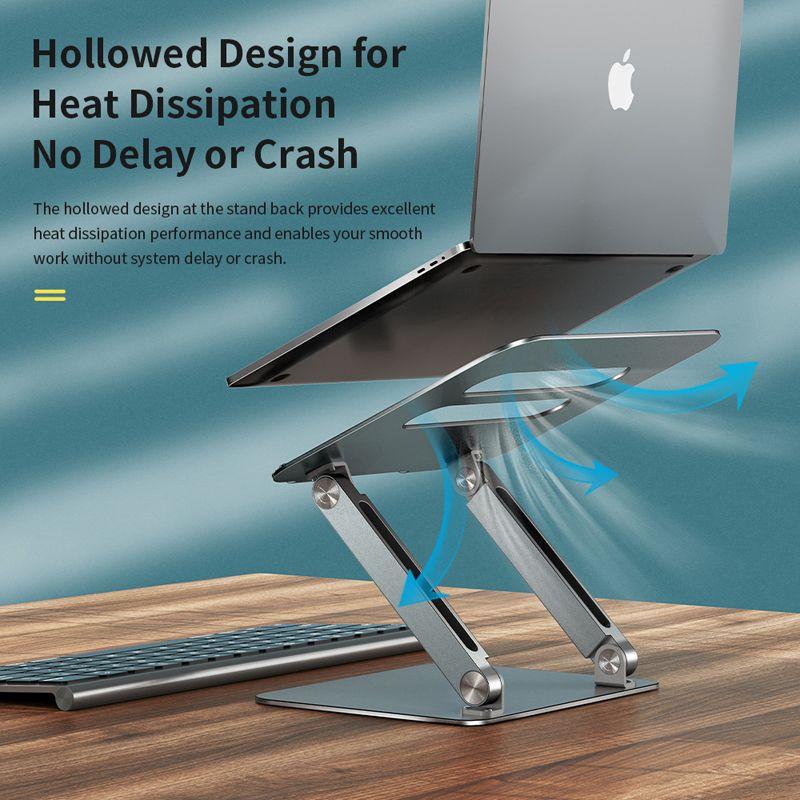 Rock Aluminum Alloy Lifetable Cooling Bracket Laptop Stand (5)