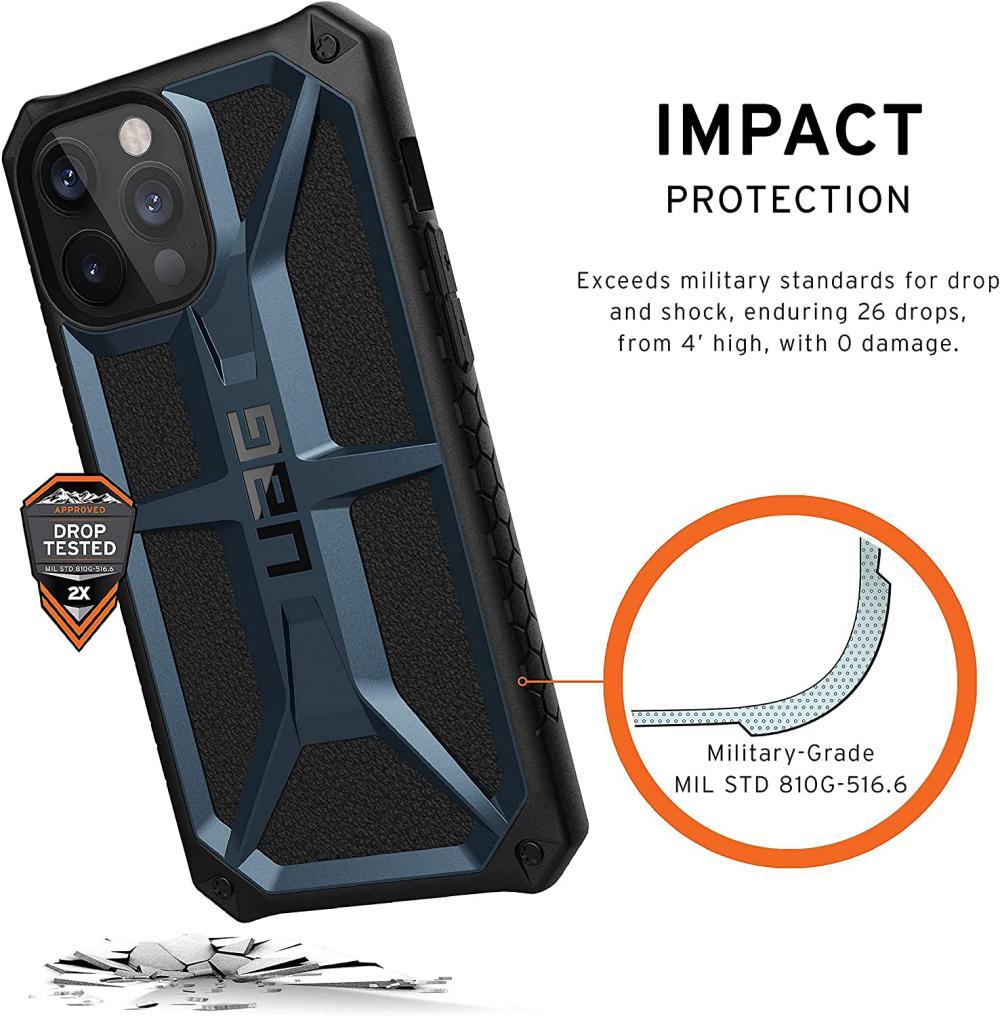 Uag Monarch Rugged Premium Protection Case For Iphone 12 Mini 12 12pro 12 Pro Max Mallard ( (4)