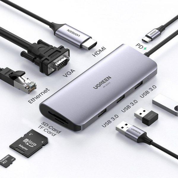Ugreen 9 In 1 Multifunctional Usb C Hub Adapter (10)