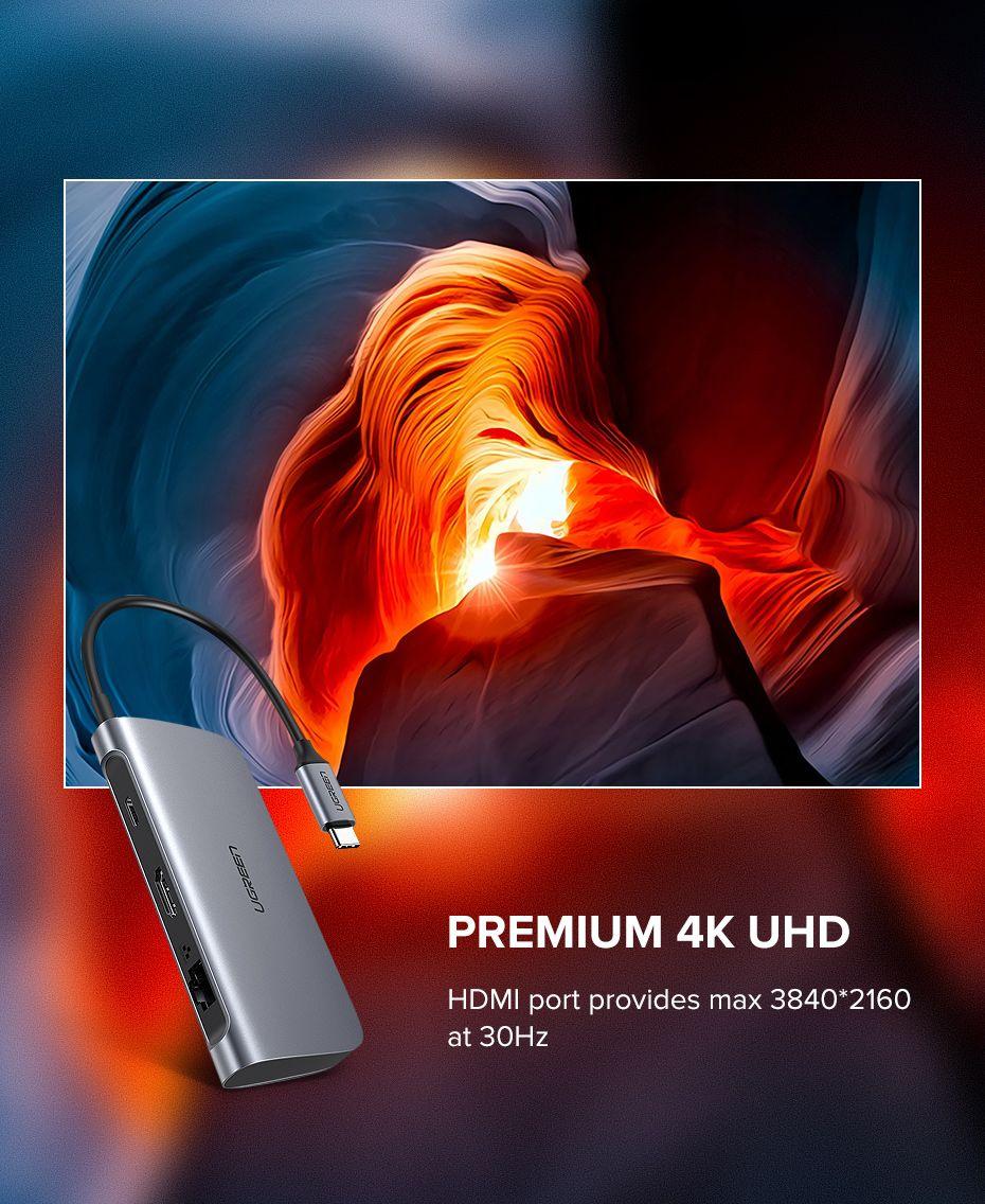 Ugreen 9 In 1 Multifunctional Usb C Hub Adapter (2)