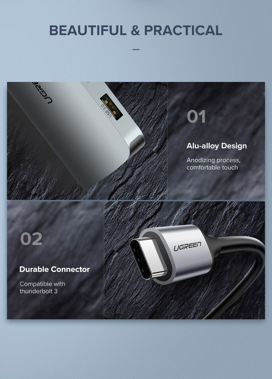 Ugreen 9 In 1 Multifunctional Usb C Hub Adapter (7)