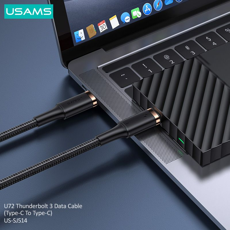 Usams Us Sj514 U72 Thunderbolt 3 Data Cable Type C To Type C (3)