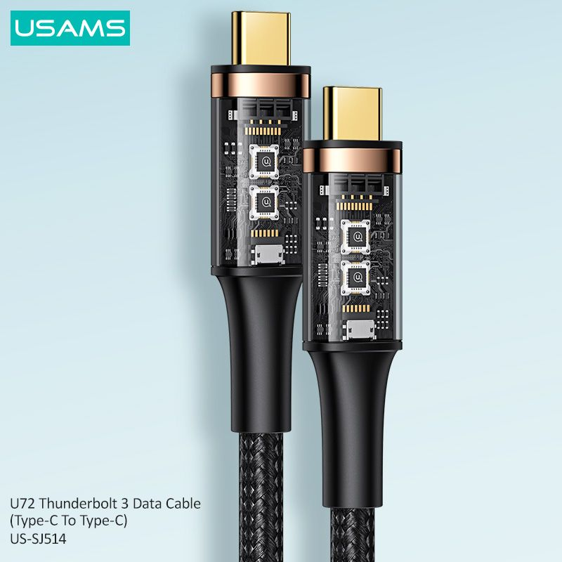 Usams Us Sj514 U72 Thunderbolt 3 Data Cable Type C To Type C (5)