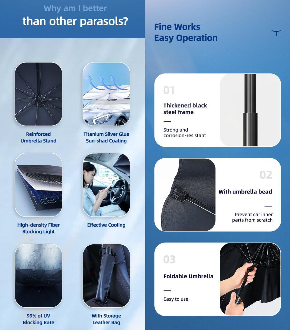 Usams Us Zb235 Car Windshield Sunshade Umbrella Upf50 (3)