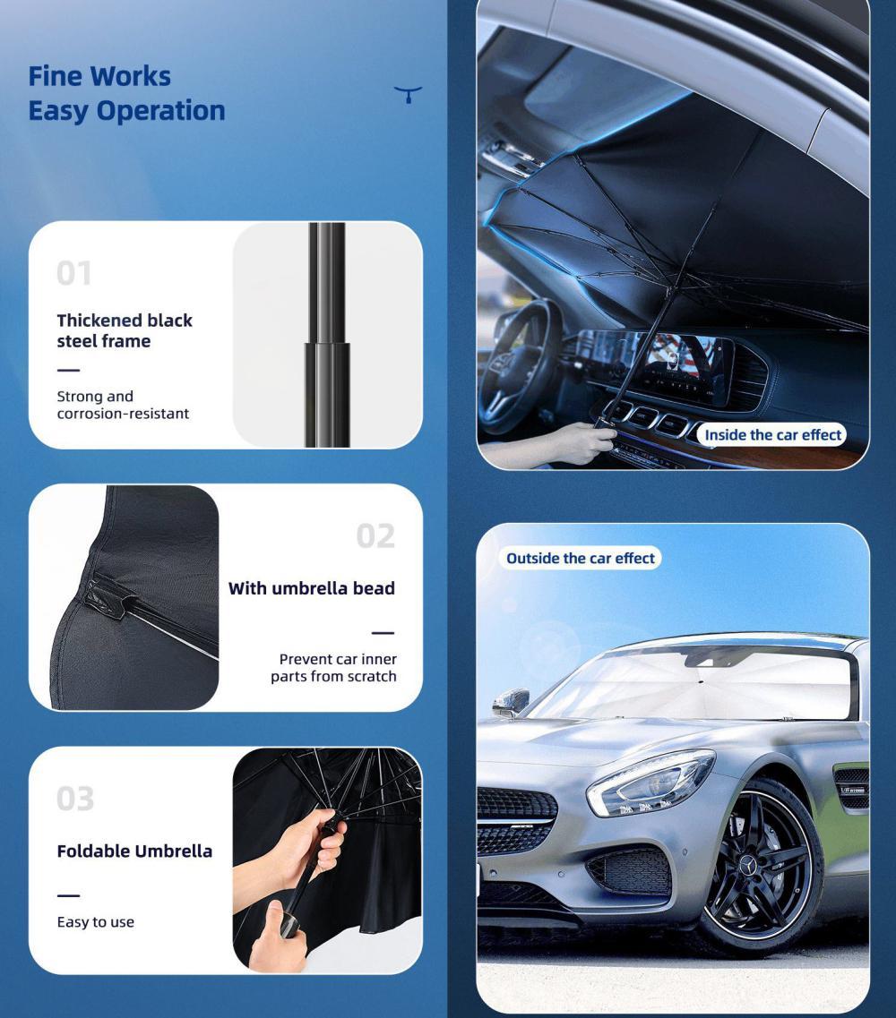 Usams Us Zb235 Car Windshield Sunshade Umbrella Upf50 (5)