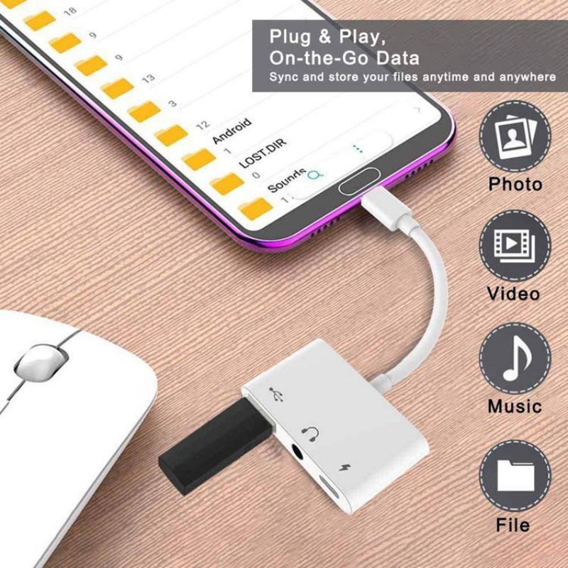 Usb C Otg Audio Adapter Type C To Usb 3 5mm Audio Jack Type C (4)