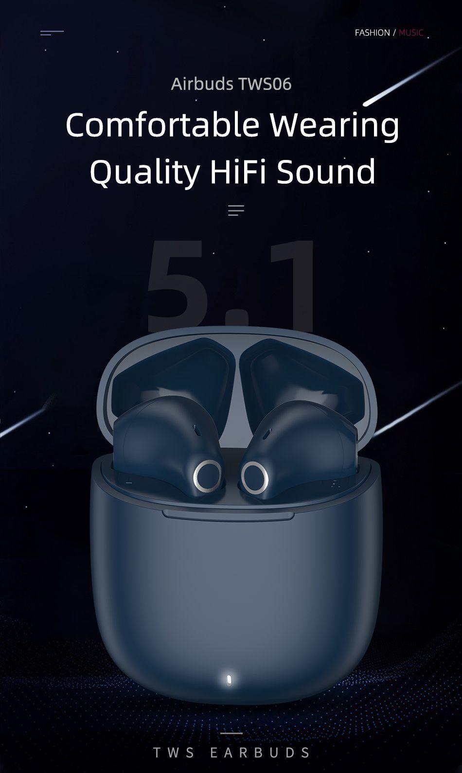 Wiwu Airbuds Tws06 Bluetooth Stereo Earbuds (2)