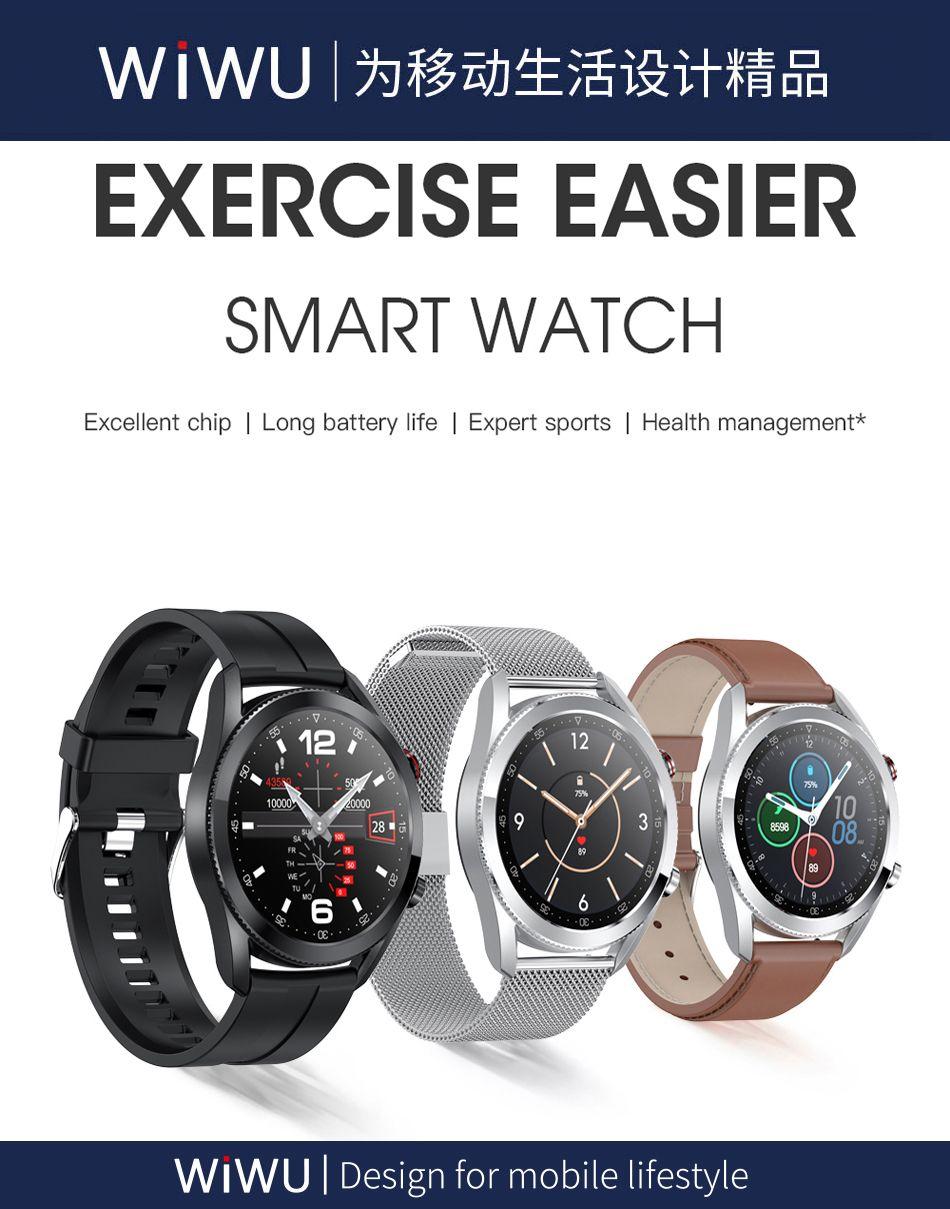 Wiwu Sw02 Smart Watch Touch Screen Fitness Tracker (1)
