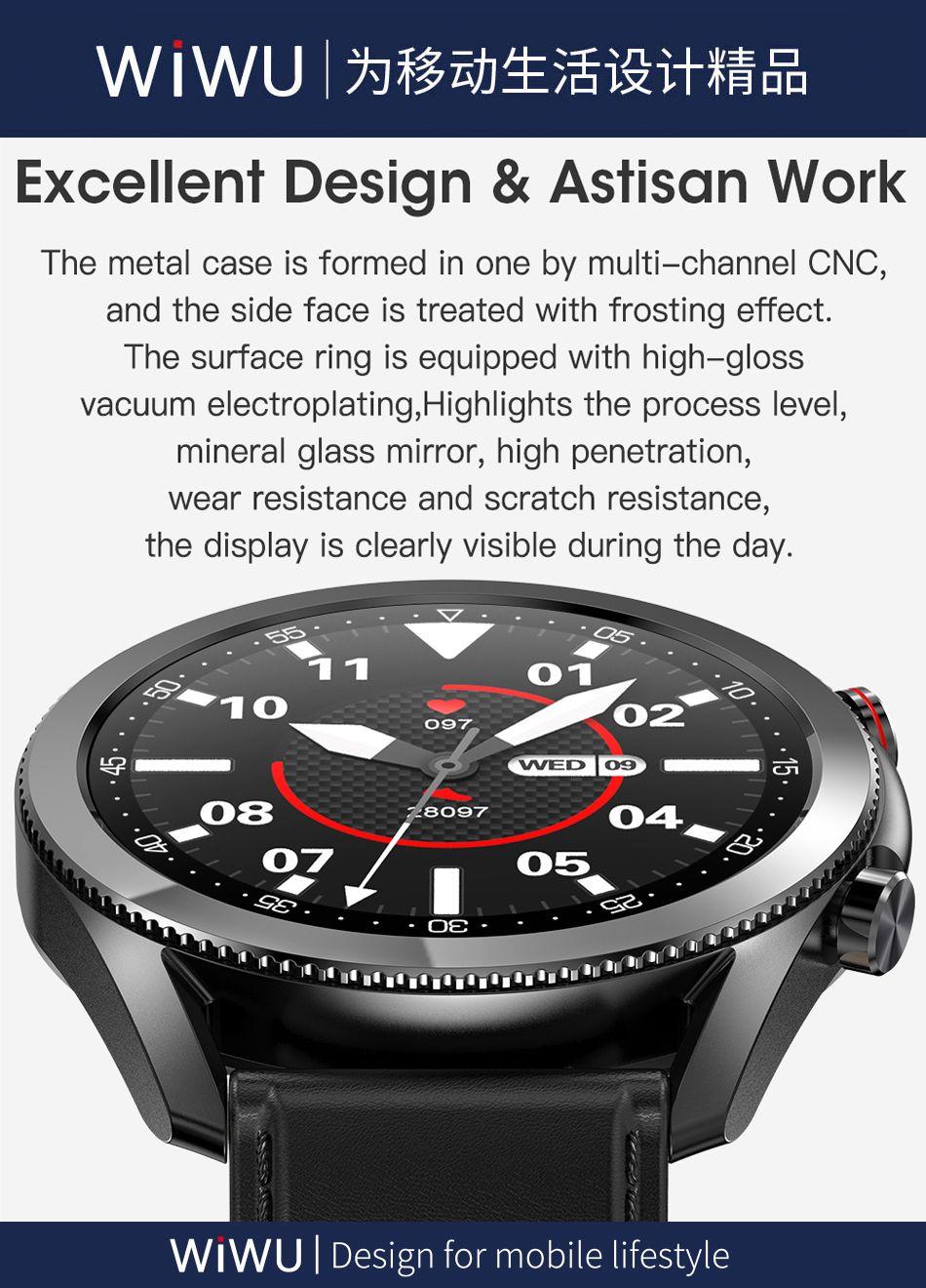 Wiwu Sw02 Smart Watch Touch Screen Fitness Tracker (2)